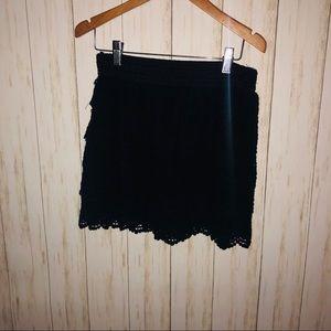 Dresses & Skirts - Justify Black lace Mini skirt XL